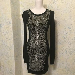French Connection Black White Sweater Dress Sz. 4